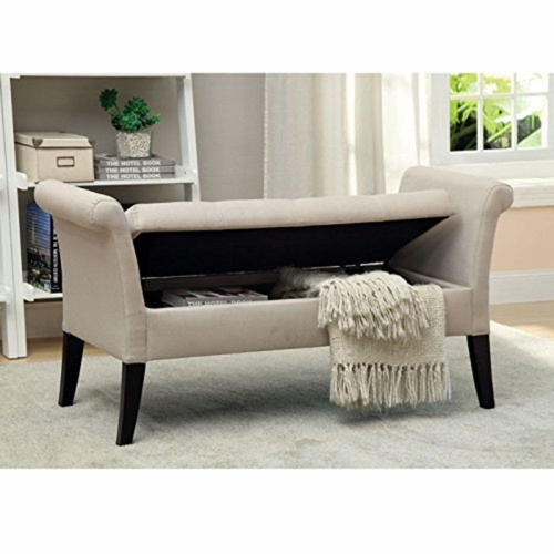 Buy gabi ivory tufted upholstered stylish storage bench at for Wild orchid furniture