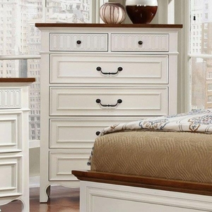 Galesburg Chest Contemporary Style, White & Oak