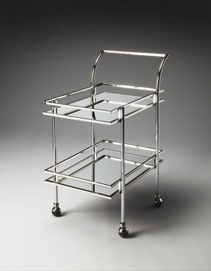 """Gatsby Contemporary Bar Cart 25""""W by Butler Specialty"""