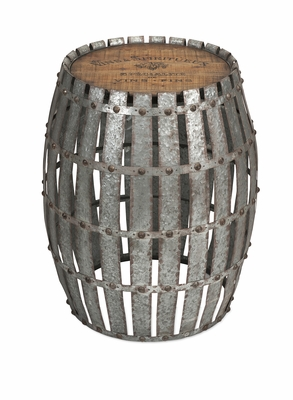 Gibbs Wood and Metal Barrel