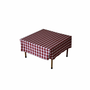 Gingham Checker Red & White - Fitted  28 x 28