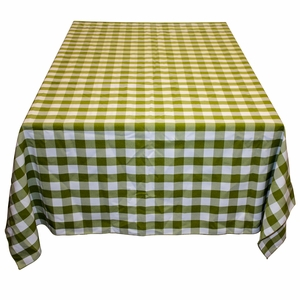 Gingham Checker Table Cloth in Green & White Color by TAIB