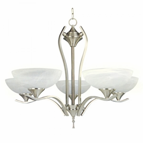 Yosemite Home Decor 1333 5sn Glacierpoint Collection Enchantingly Styled 5 Lights Chandelier In