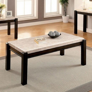 Gladstone Contemporary Style Penland Coffee Table, Ivory