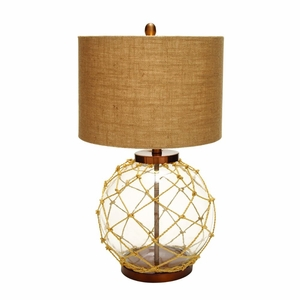 Glass Mtl Table Lamp 26-Inch H by BENZARA