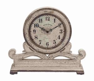 Classic and Traditional Wood Table Round Face Clock - 50982 by Benzara