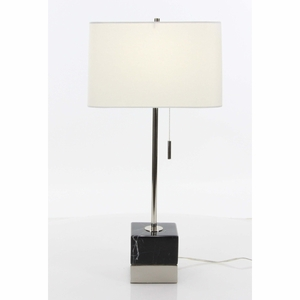 Glowing Metal Marble Table Lamp - 60185 by Benzara