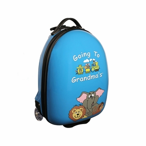 Going To Grandma's Blue Luggage