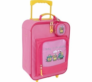 Going To Grandma's Duffle Bag Upright With Wheels - Pink