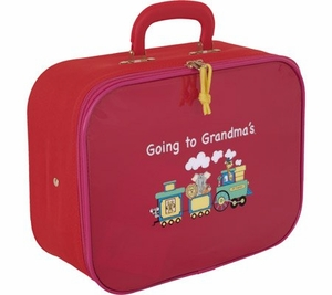 Going To Grandma's Suitcase - Red