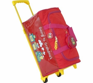 Going To Grandma's Wheeled Duffle - Red
