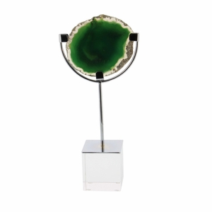 Good-Looking Green Agate Geode With Crystal Base - 35770 by Benzara
