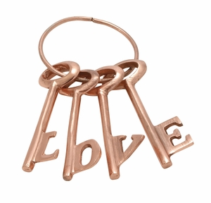 Gorgeous Aluminum Copper Love Key Set Of 4 - 37050 by Benzara