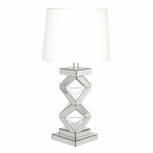 Gorgeous Glass Mirror Table Lamp - 87371 by Benzara