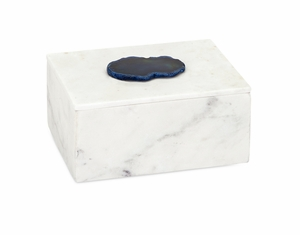 Gorgeous Piper Marble Box with Agate