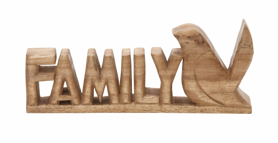 Buy Gorgeous Wood Family Bird 13 W 5 H At