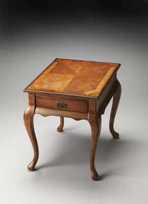 """Grace Olive Ash Burl End Table 21""""W by Butler Specialty"""