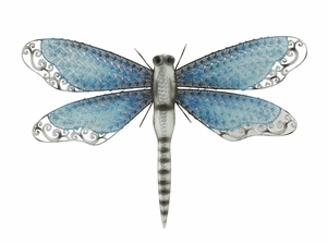 Gracefully Styled Metal Dragonfly - 58526 by Benzara