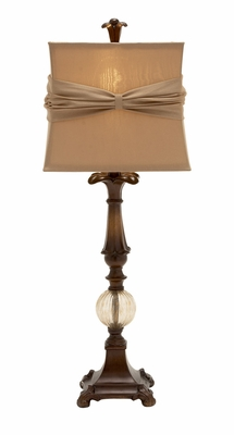 Gracious And Gorgeous Polystone Glass Ball Table Lamp - 97379 by Benzara