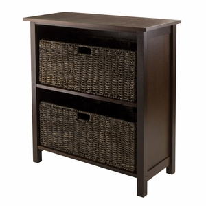 Granville 3pc Storage Shelf with 2 Foldable Baskets by Winsome Woods