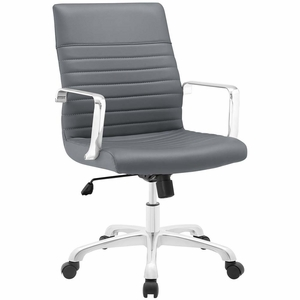 Gray Finesse Mid Back Office Chair