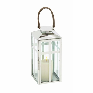 Traditional Style Designer Steel Candle Lantern (Small) - 23607 by Benzara