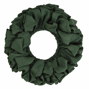 Green Burlap Wreath 20 - 26857 by VHC Brands