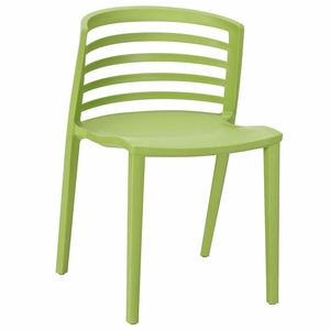 Green Curvy Dining Side Chair