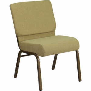 Green Fabric Church Chair - FD-CH0221-4-GV-GN-GG by Flash Furniture