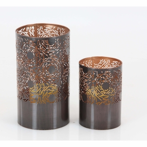 Hailey Metal Candle Holder, Set Of 2 - 57359 by Benzara