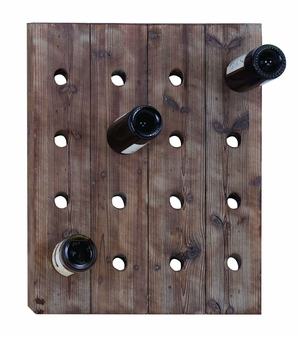 Classy Wall Mount Wine Rack With 16 Slots - 55414 by Benzara