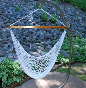 Hanging Polyester Rope Chair by Algoma
