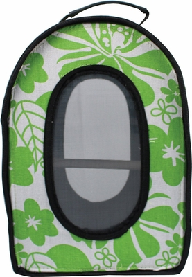 AEC-HB1506S-Green Happy Beaks Soft Sided Travel Bird Carrier Green, 14.5X10.5X7