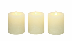 Heavenly Set Of 3 Flameless Candle With Remote - 54879 by Benzara