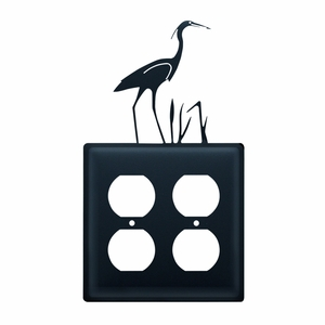 Heron - Double Outlet Cover