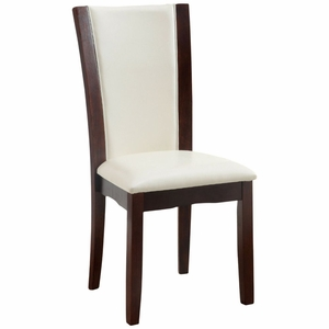 Hilary 2 PC Two-Tone Faux Leather Side Chair