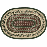 Holly Berry Jute Stencil Rug Oval 20x30 - 12115 by VHC Brands