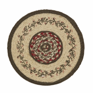 Holly Berry Jute Stencil Tablemat 13