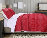 Holly, Cross Stitch style Twin size Quilt Set, 2-Piece
