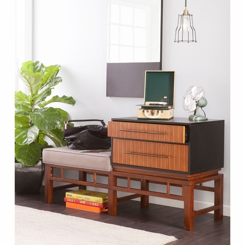 Buy holly martin brock storage bench at for Wild orchid furniture