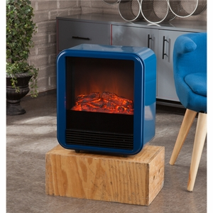 Holly & Martin Fasser Electric Fireplace - Navy by Southern Enterprises