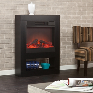 Holly & Martin Mofta Electric Fireplace - Black by Southern Enterprises
