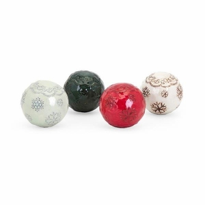 Homestead Christmas  Filler Balls - Set of 4 - Multicolor - Benzara