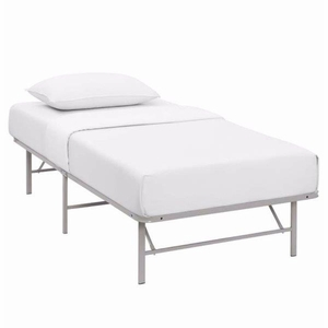 Horizon Twin Stainless Steel Bed Frame, Gray