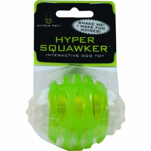 Hyper Pet Hyper Squawker Ball Dog Toy
