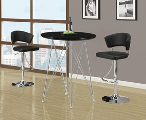 I 2300 Black / Chrome Metal Hydraulic Lift Barstool