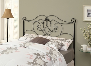 I 2611Q Satin Black Queen / Full Size Combo Head / Footboard Only
