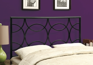 I 2613Q Black Queen / Full Size Combo Headboard Or Footboard Only