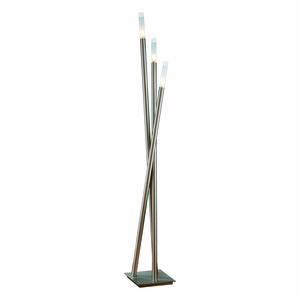 Icicle Floor Lamp Brushed Nickel by Lumisource