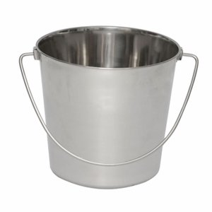 Iconic Pet - Heavy Duty Stainless Steel Pet Pail Bucket - 6 Qt